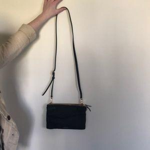 TUMI purse AND clutch, black